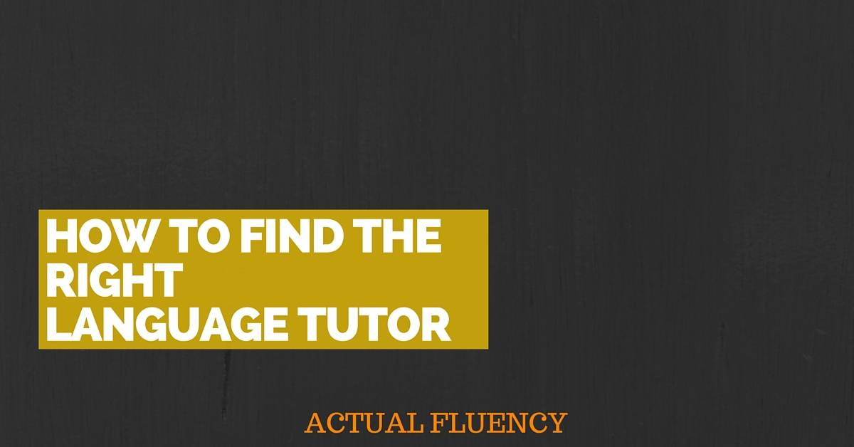 How to pick the right language tutor