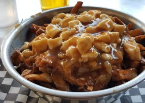The lovely poutine. French fries with gravy and cheese. This one had pulled pork too.